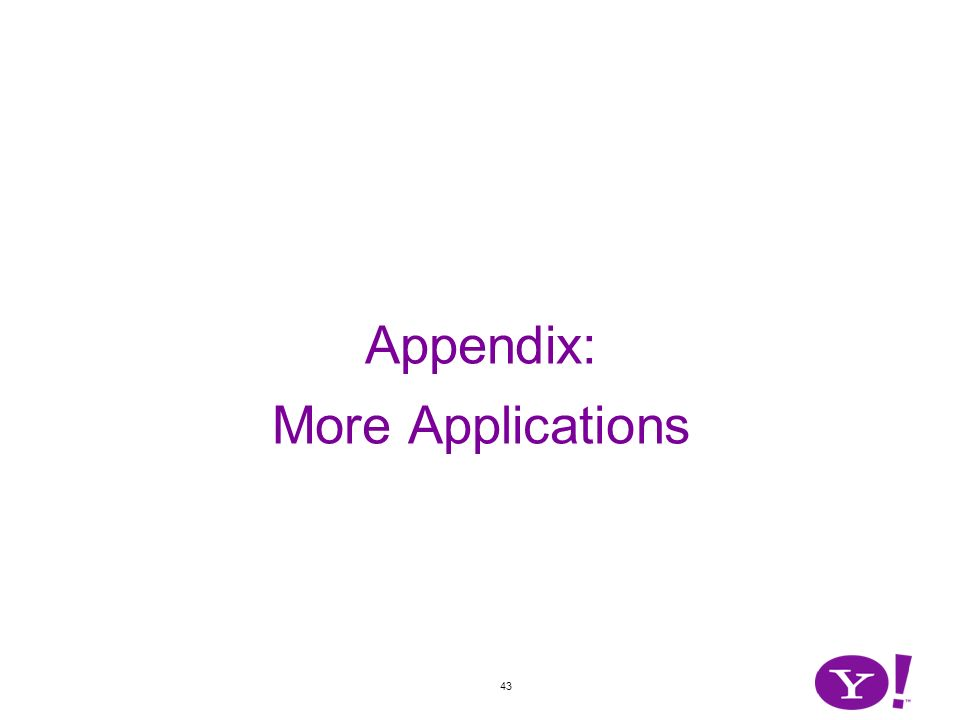 43 Appendix: More Applications