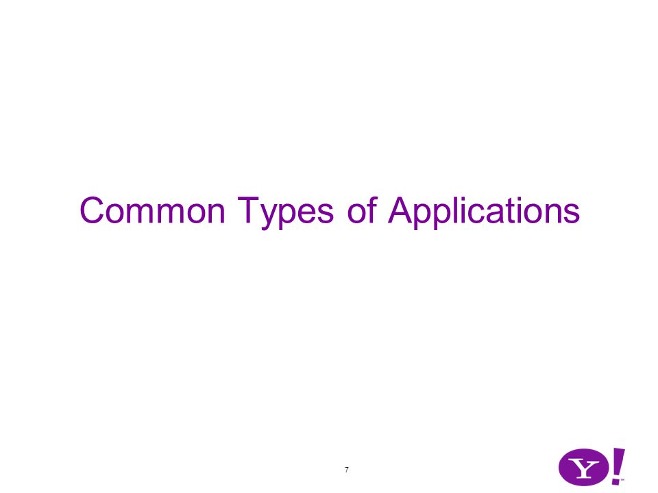 7 Common Types of Applications