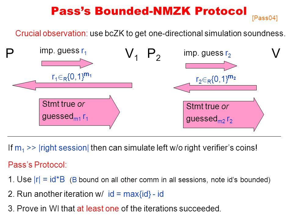 Passs Bounded-NMZK Protocol PV1V1 imp.