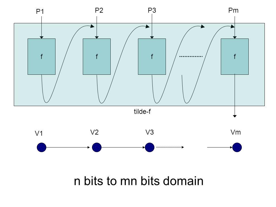 ffff P1 P2P3Pm V1 V2V3Vm n bits to mn bits domain tilde-f