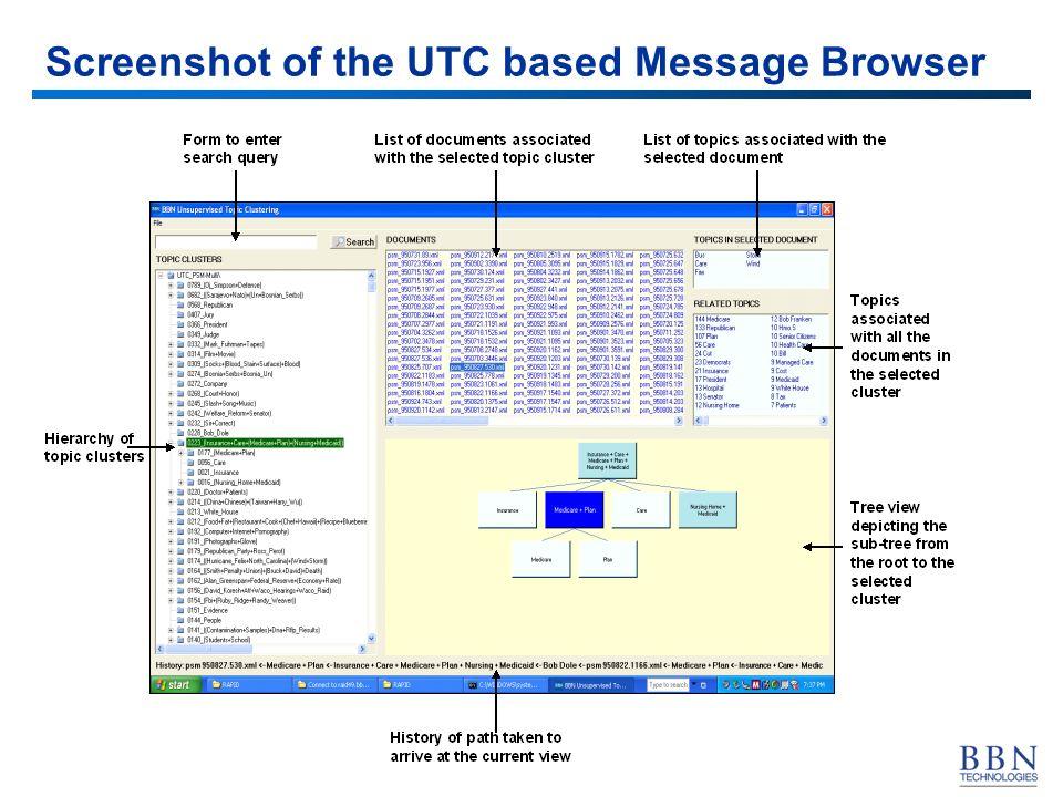 34 Screenshot of the UTC based Message Browser
