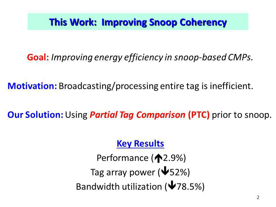 Our Solution (PTC) vs.Conventional 3 D$ Interconnect Upper Level Cache ….