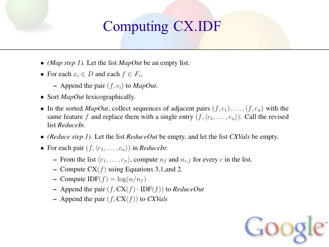 Computing CX.IDF