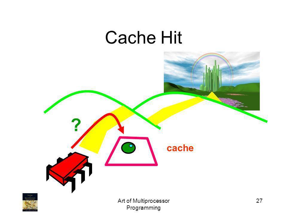 Art of Multiprocessor Programming 27 Cache Hit cache ?