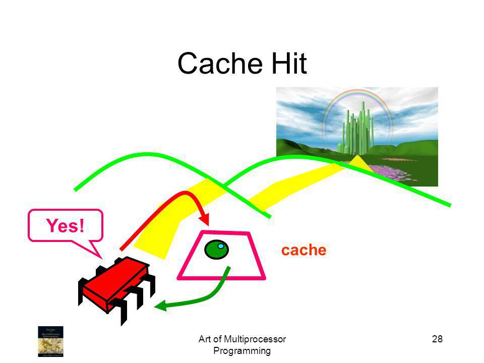 Art of Multiprocessor Programming 28 Cache Hit cache Yes!