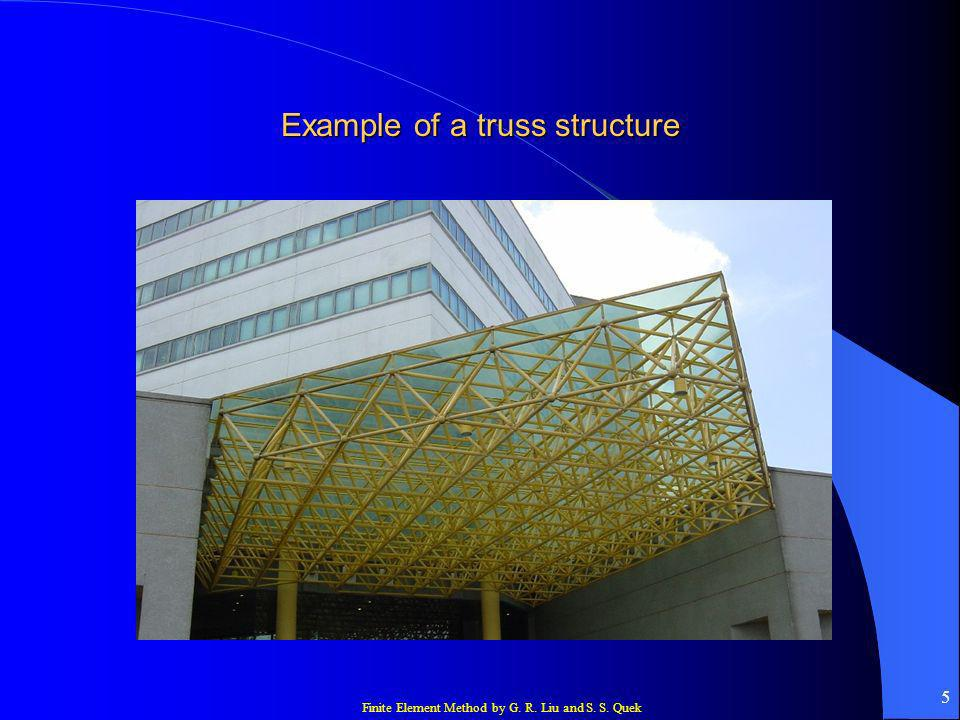 Finite Element Method by G. R. Liu and S. S. Quek 5 Example of a truss structure