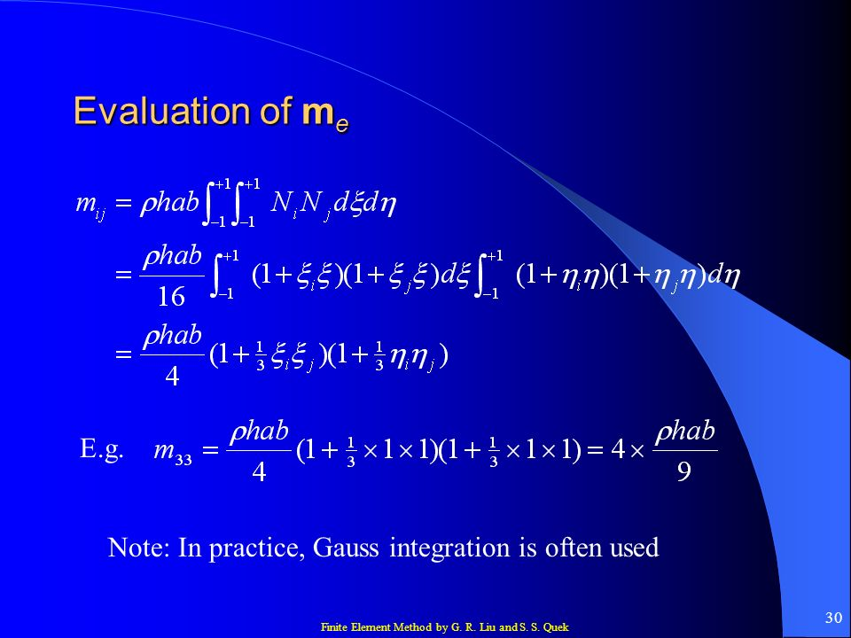 Finite Element Method by G.R. Liu and S. S.
