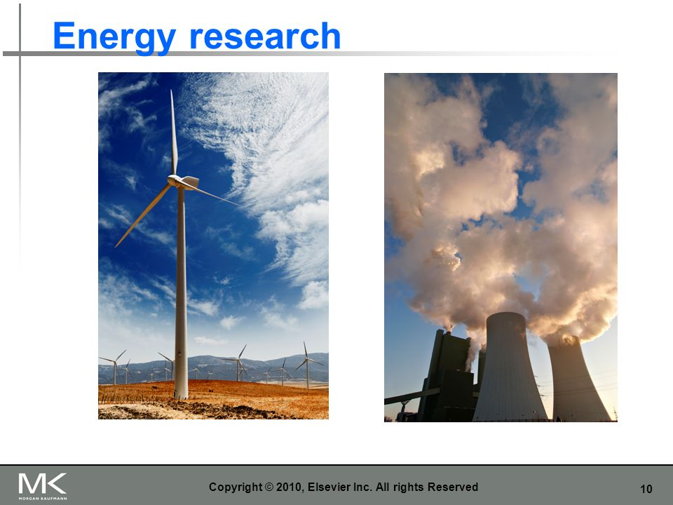 10 Energy research Copyright © 2010, Elsevier Inc. All rights Reserved