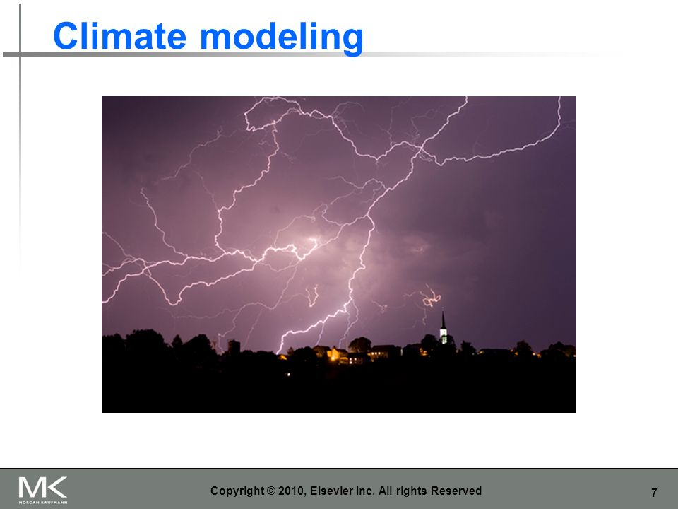 7 Climate modeling Copyright © 2010, Elsevier Inc. All rights Reserved