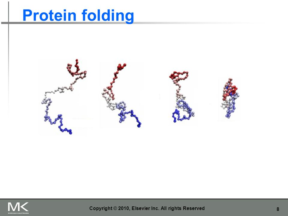 8 Protein folding Copyright © 2010, Elsevier Inc. All rights Reserved