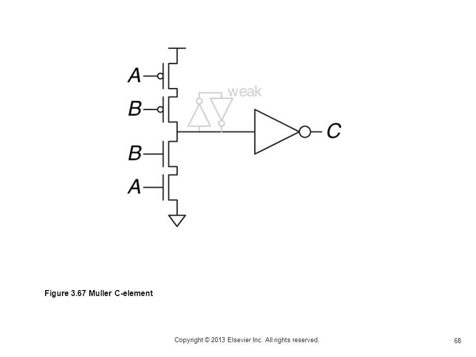 68 Copyright © 2013 Elsevier Inc. All rights reserved. Figure 3.67 Muller C-element