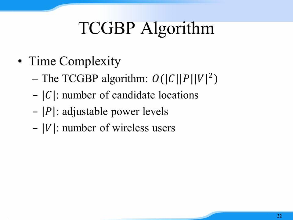 TCGBP Algorithm 21 Phase II Phase I