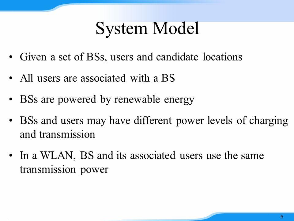 8 Introduction Literature Review System Model Problem Formulation TCGBP Algorithm Numerical Results Conclusion & Future Work Outline