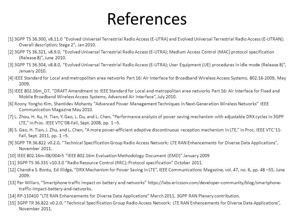 References [1] 3GPP TS 36.300, v8.11.0