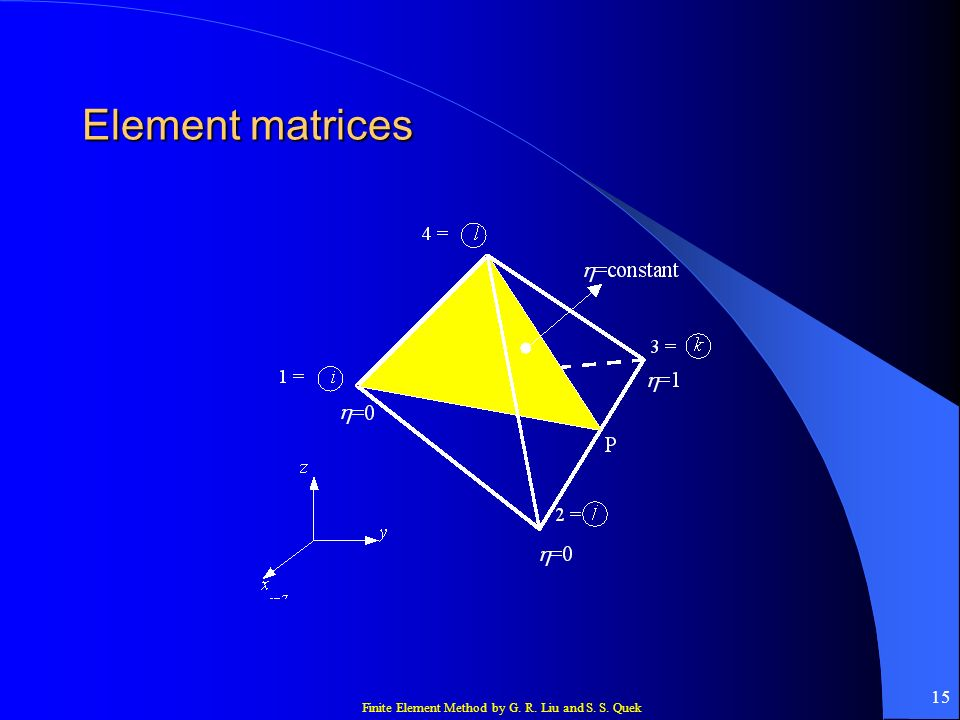 Finite Element Method by G. R. Liu and S. S. Quek 15 Element matrices