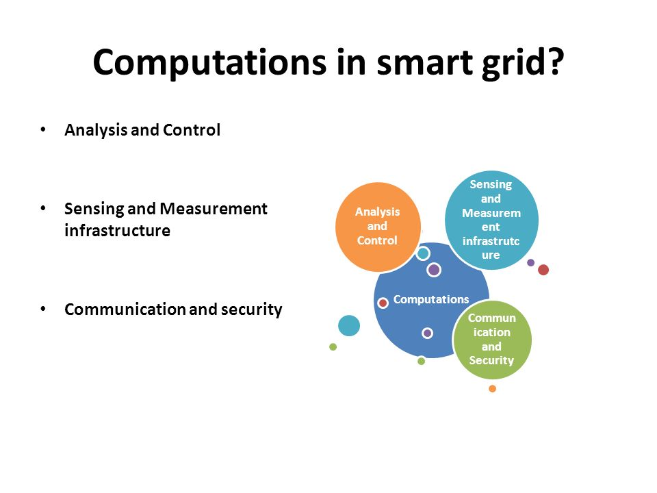 Computations in smart grid.