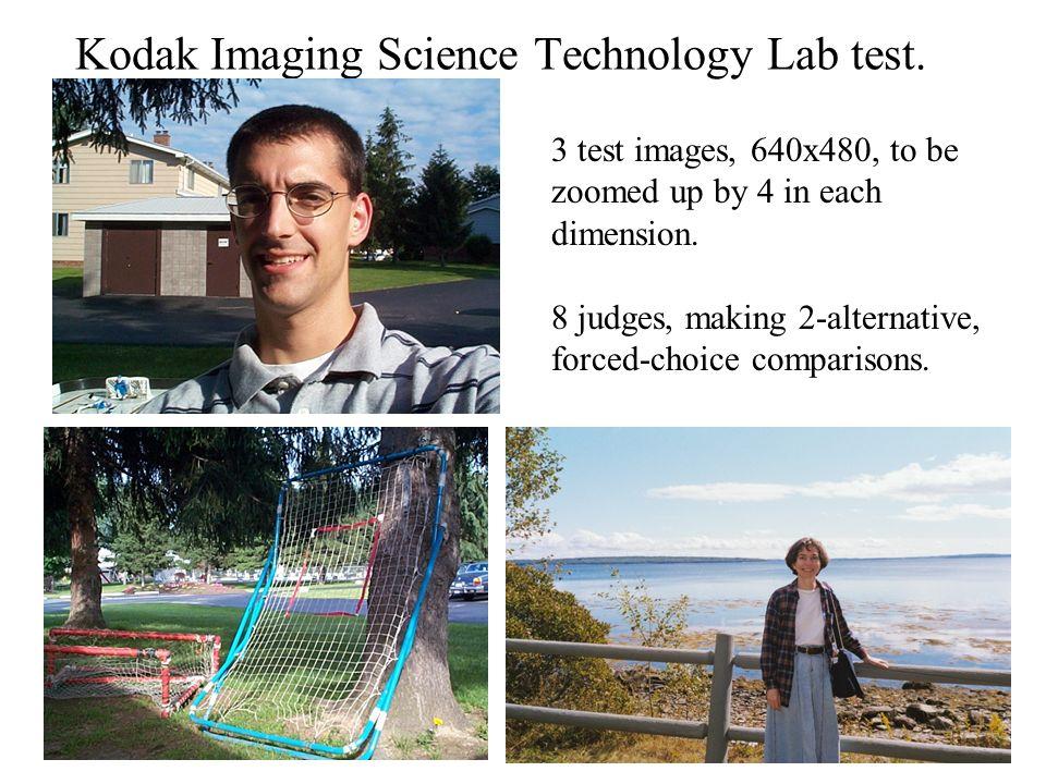 6 Kodak Imaging Science Technology Lab test.