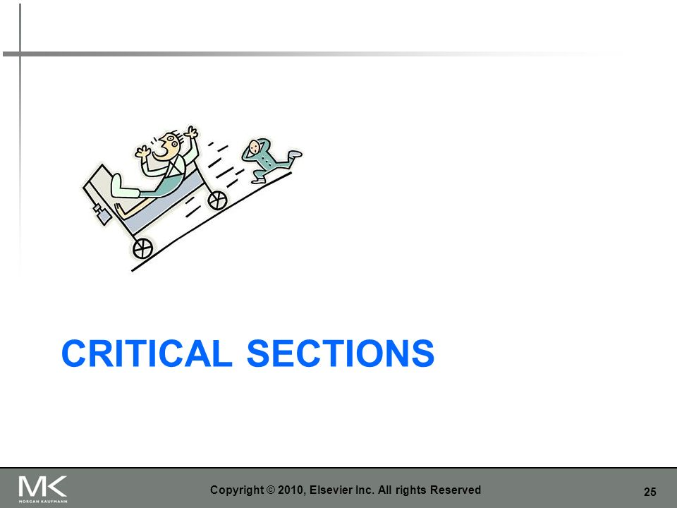 25 CRITICAL SECTIONS Copyright © 2010, Elsevier Inc. All rights Reserved