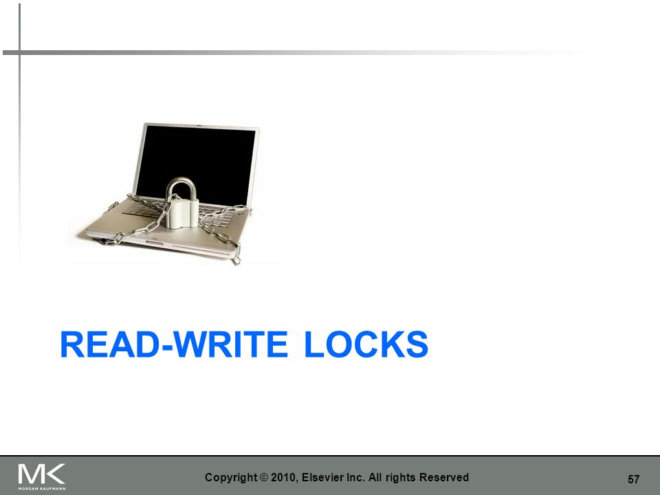 57 READ-WRITE LOCKS Copyright © 2010, Elsevier Inc. All rights Reserved