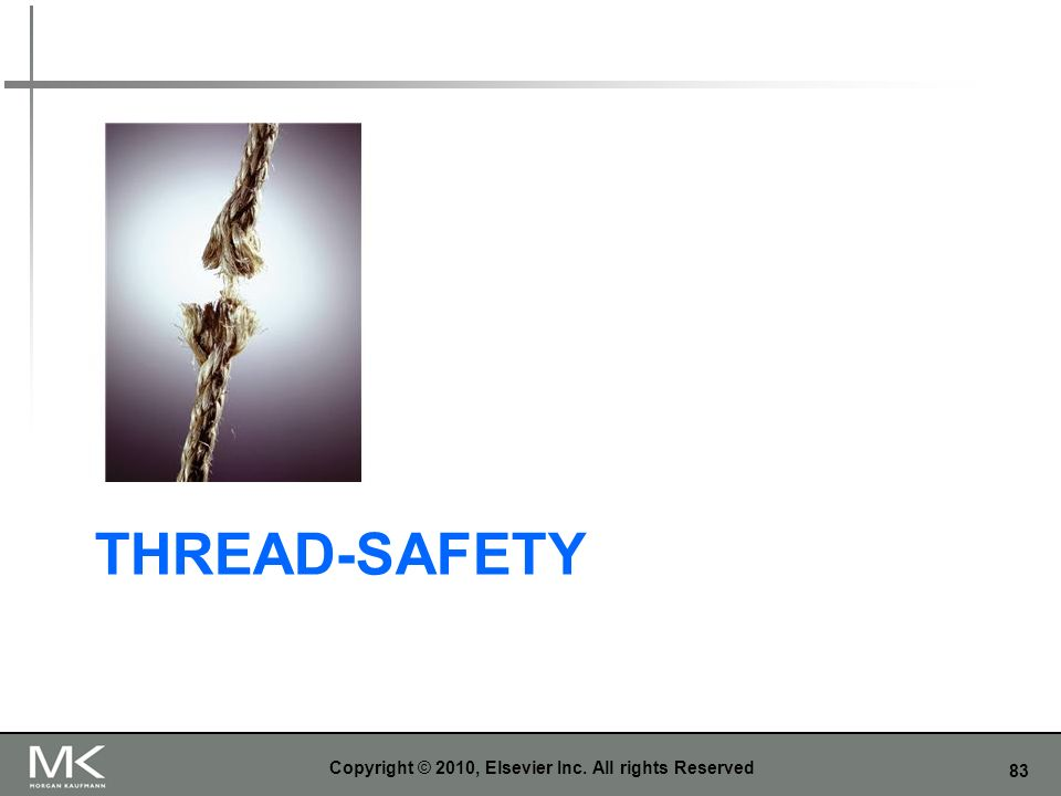 83 THREAD-SAFETY Copyright © 2010, Elsevier Inc. All rights Reserved