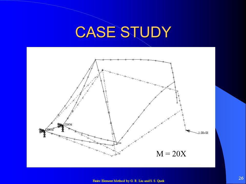 Finite Element Method by G. R. Liu and S. S. Quek 26 CASE STUDY M = 20X