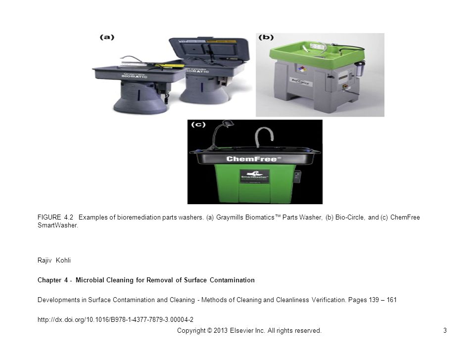 FIGURE 4.2 Examples of bioremediation parts washers.