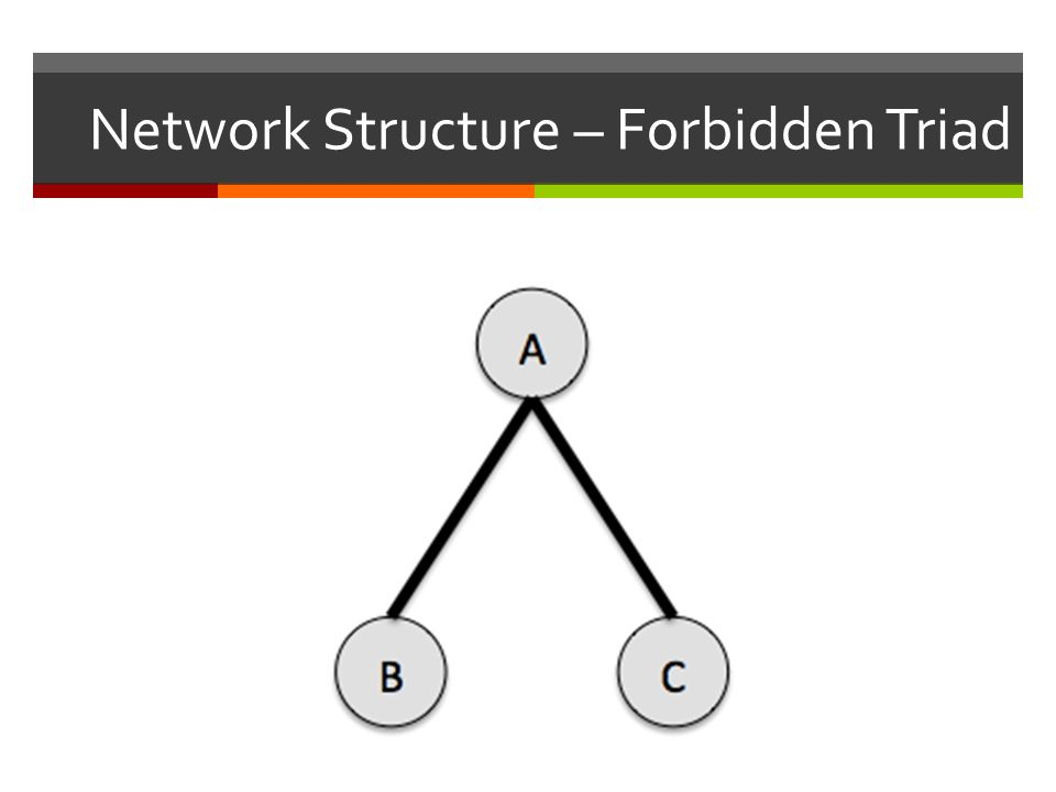 Network Structure – Forbidden Triad