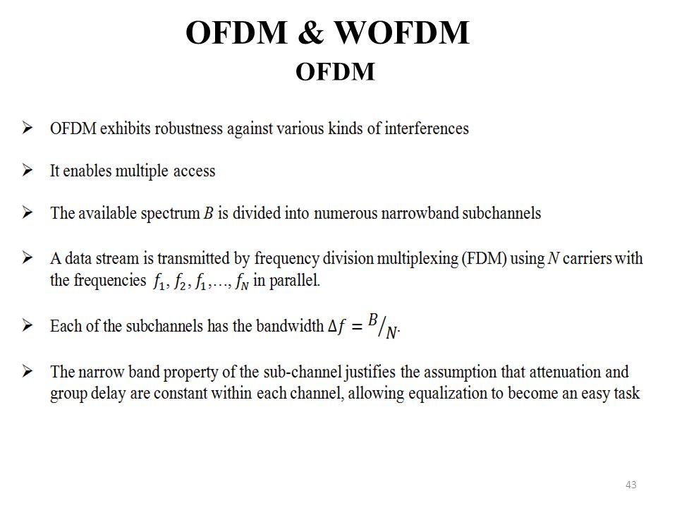 43 OFDM & WOFDM OFDM