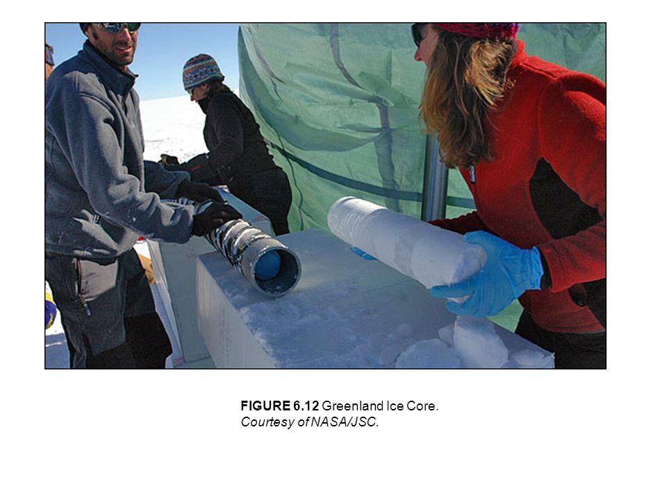 FIGURE 6.12 Greenland Ice Core. Courtesy of NASA/JSC.
