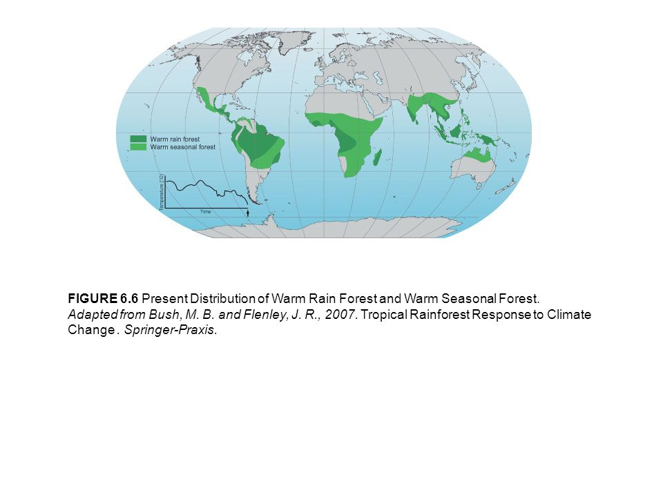 FIGURE 6.7 Present and Last Glacial Maximum Vegetation Formations and Biomes.