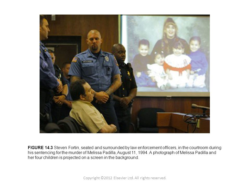 Figure 1.2 Copyright © 2011 Academic Press Inc. FIGURE 14.3 Steven Fortin, seated and surrounded by law enforcement officers, in the courtroom during