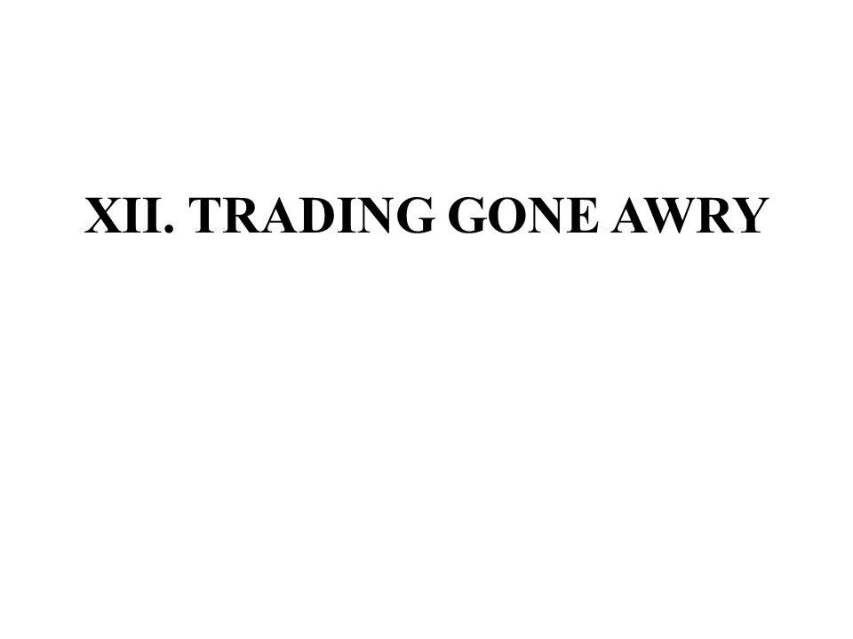 XII. TRADING GONE AWRY