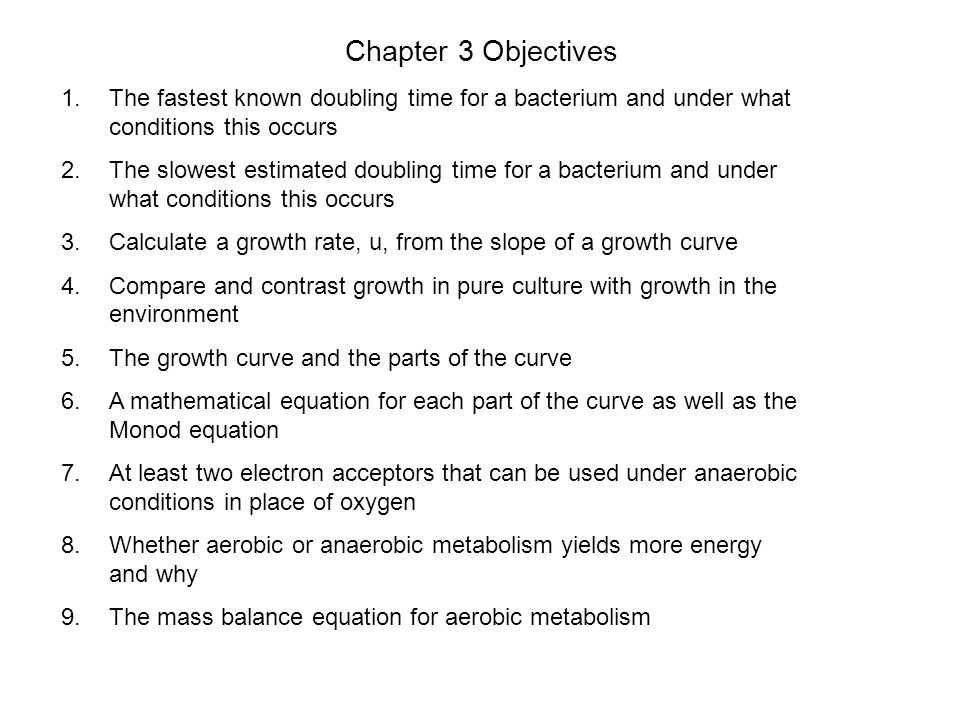Now calculate the doubling time If you know the growth rate, u, you can calculate the doubling time for the culture.