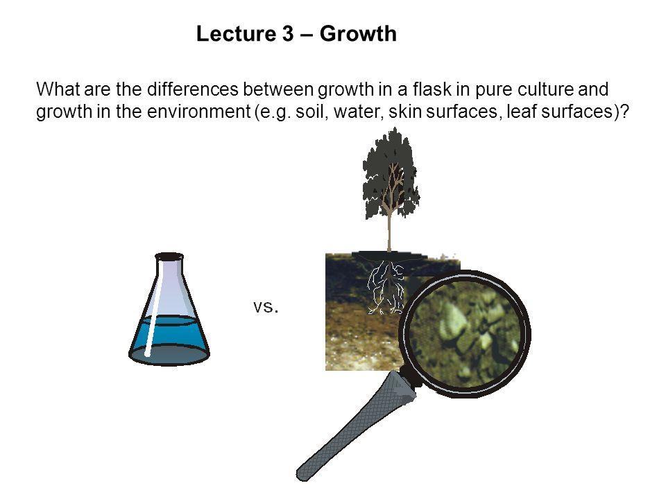 Growth Curve Log CFU/ml Optical Density Lag
