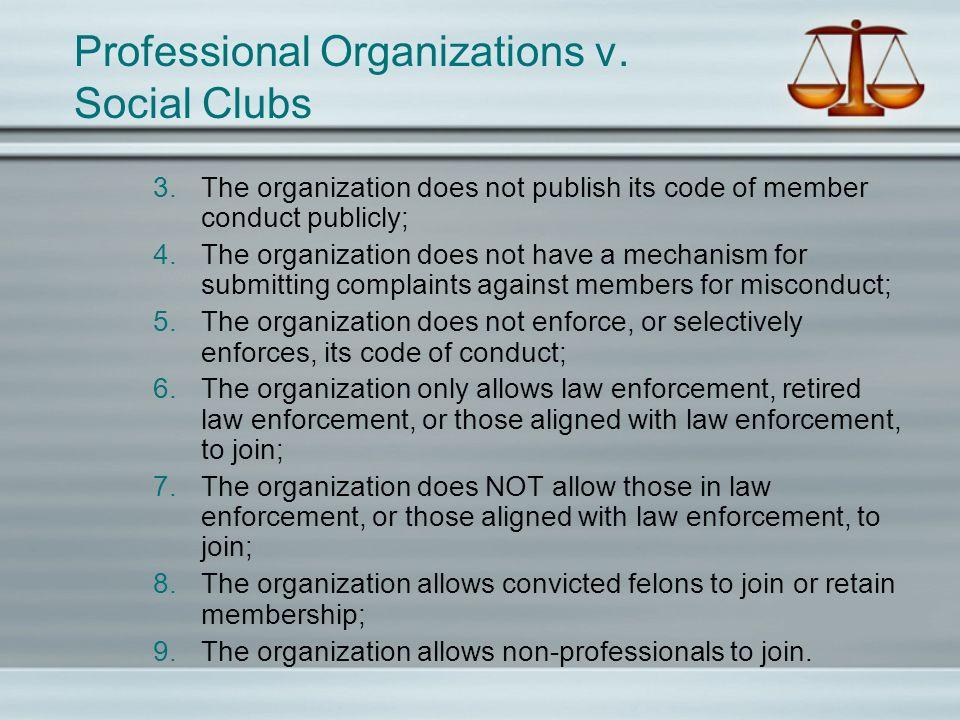 Professional Organizations v.
