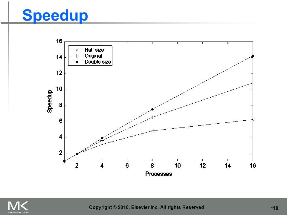 118 Speedup Copyright © 2010, Elsevier Inc. All rights Reserved