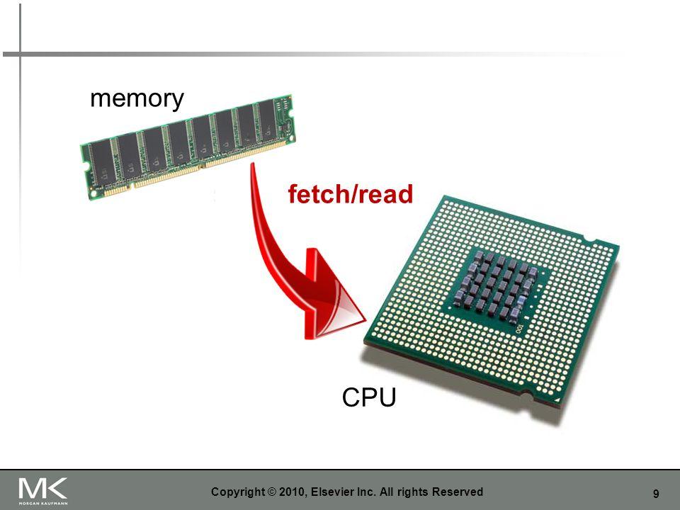 9 memory CPU fetch/read