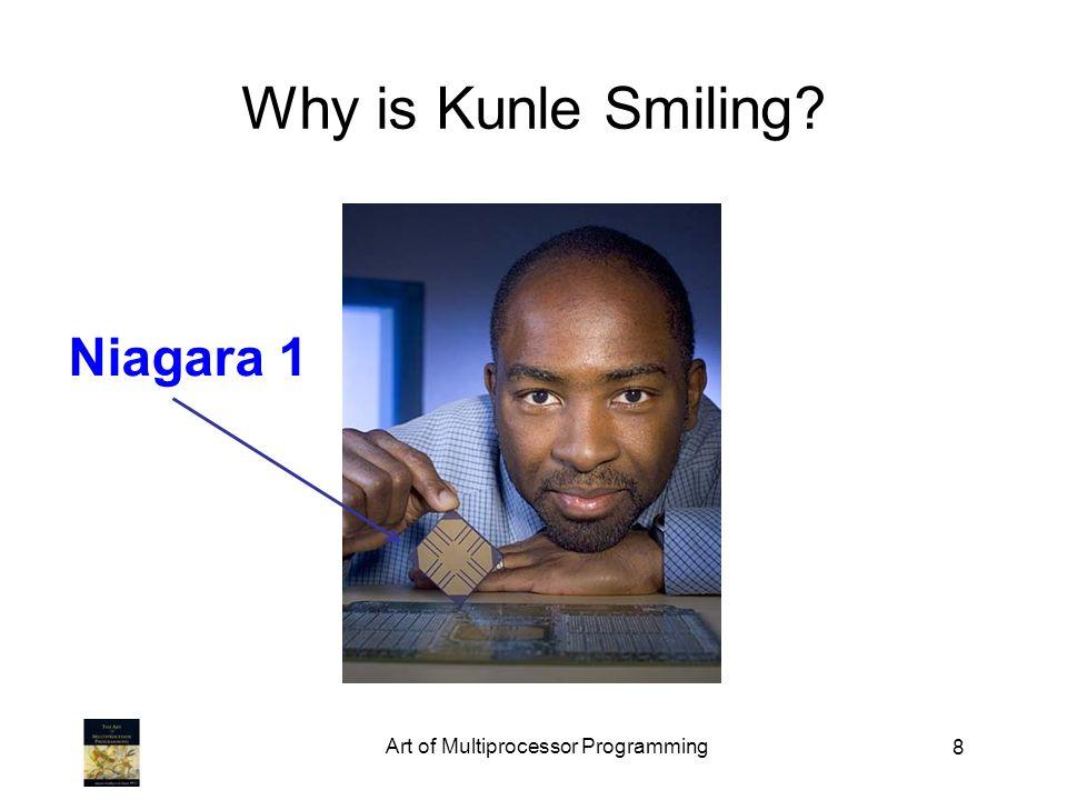 Art of Multiprocessor Programming 8 Why is Kunle Smiling? Niagara 1