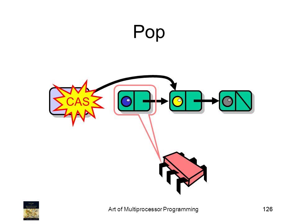 Art of Multiprocessor Programming126 Pop Top CAS