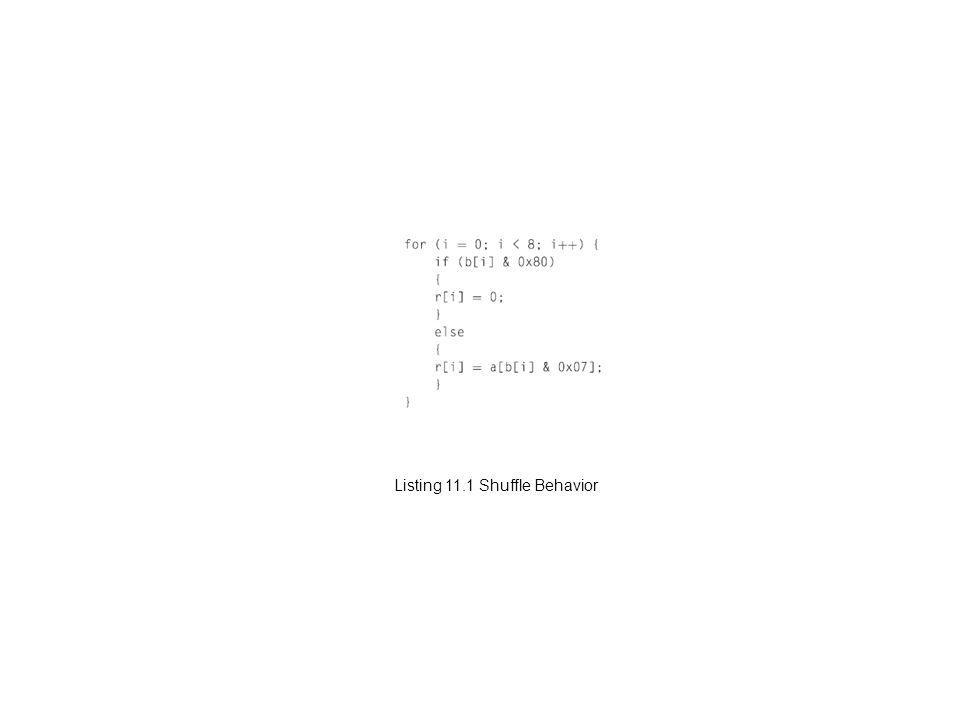 Listing 11.1 Shuffle Behavior