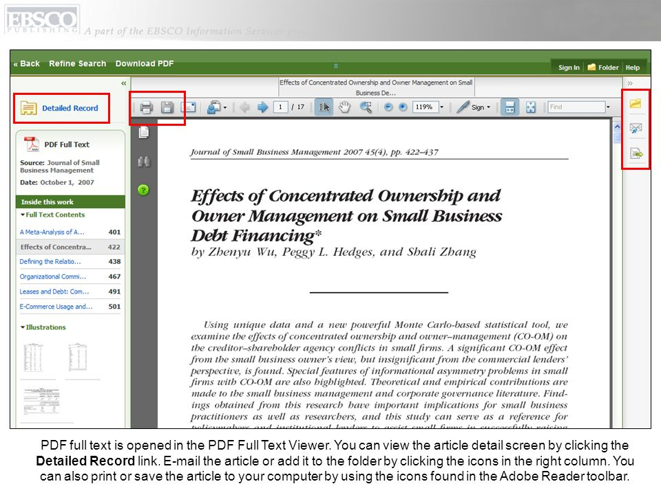 PDF full text is opened in the PDF Full Text Viewer.