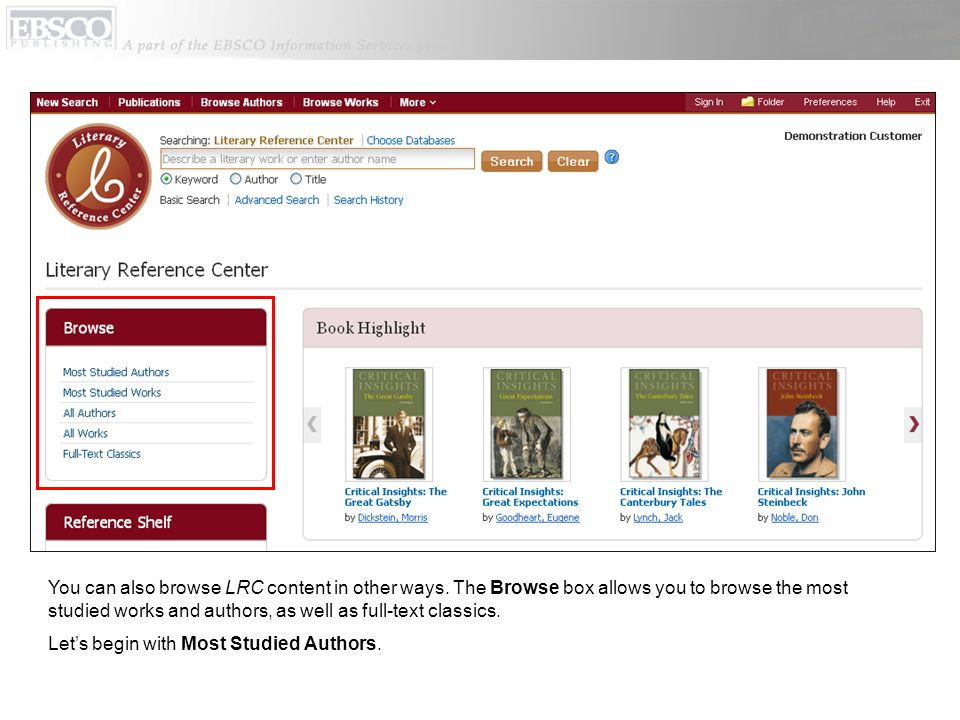 You can also browse LRC content in other ways.
