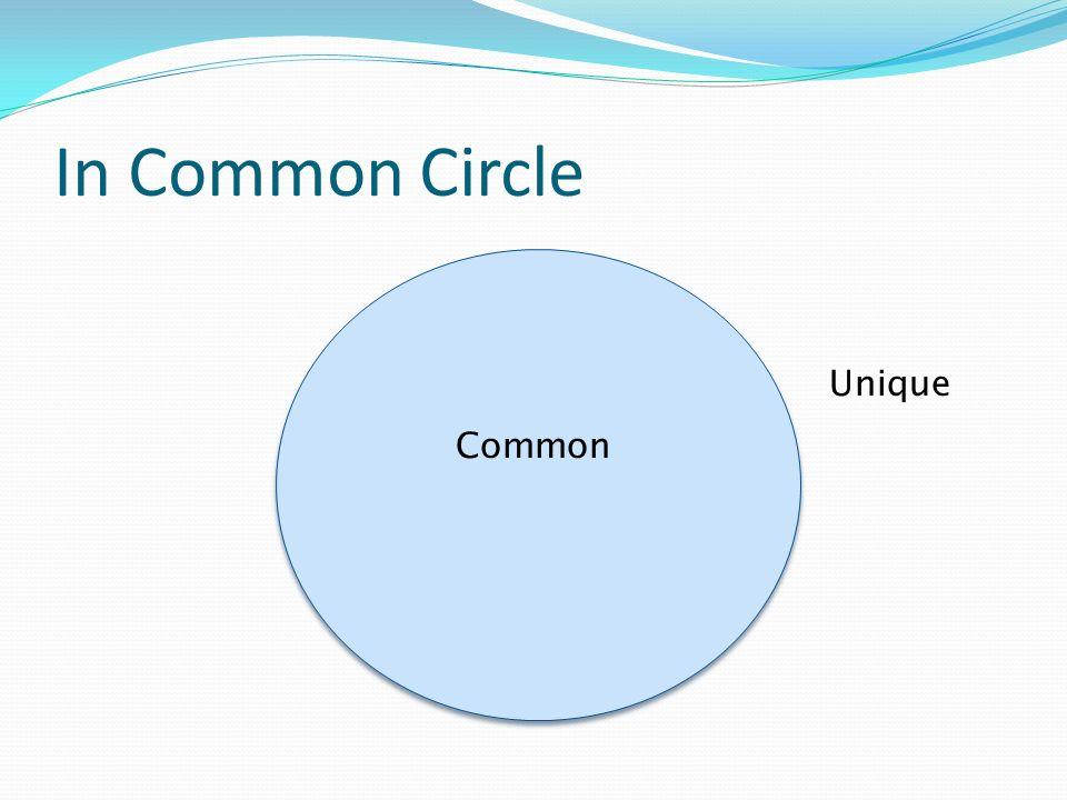 In Common Circle Common Unique