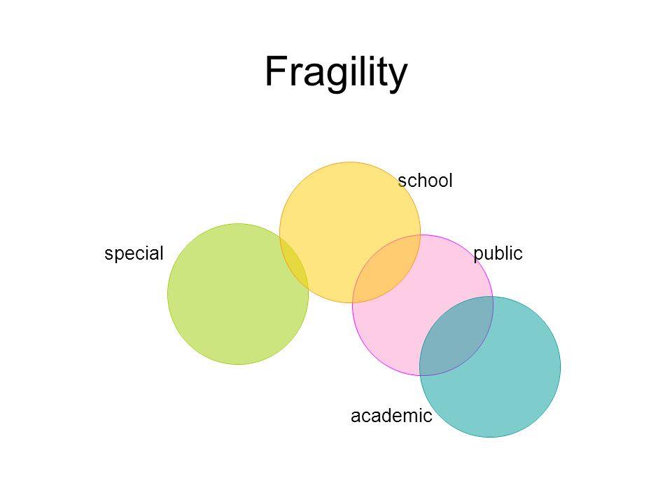 Fragility school public academic special