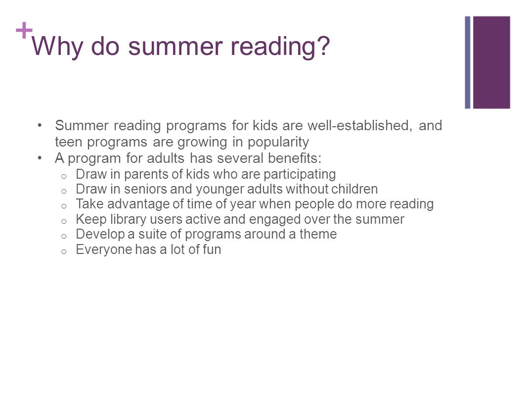Why do summer reading.