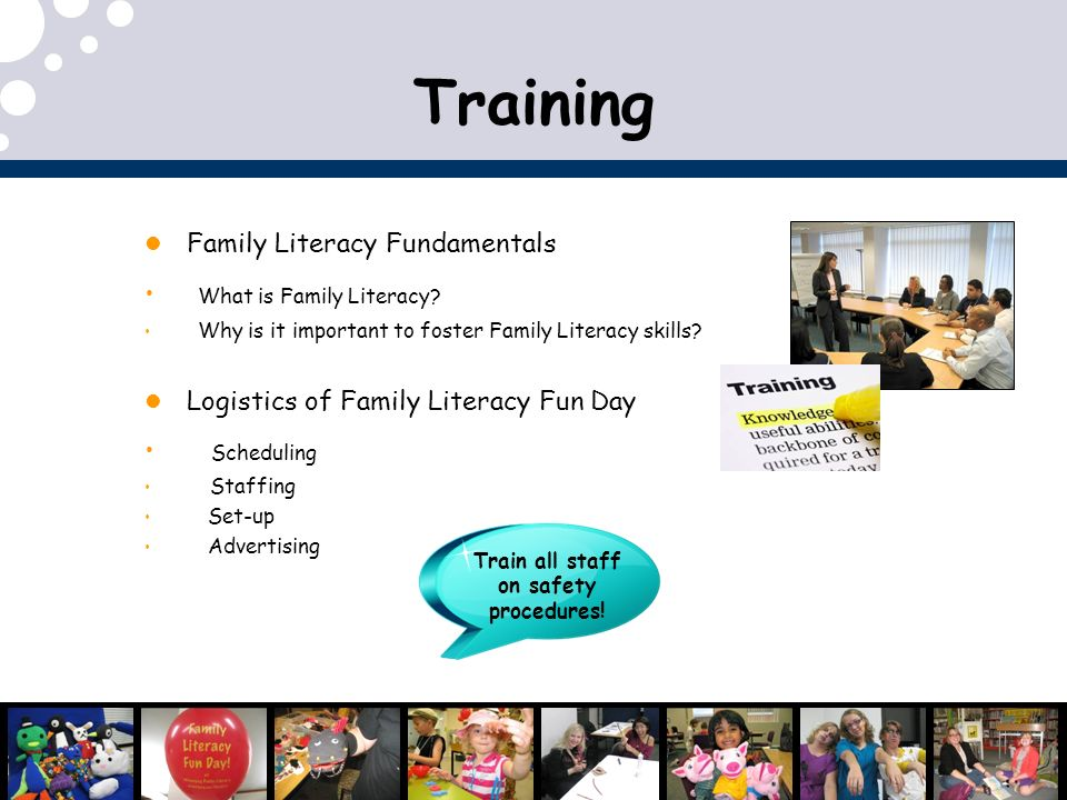 Training Family Literacy Fundamentals What is Family Literacy.