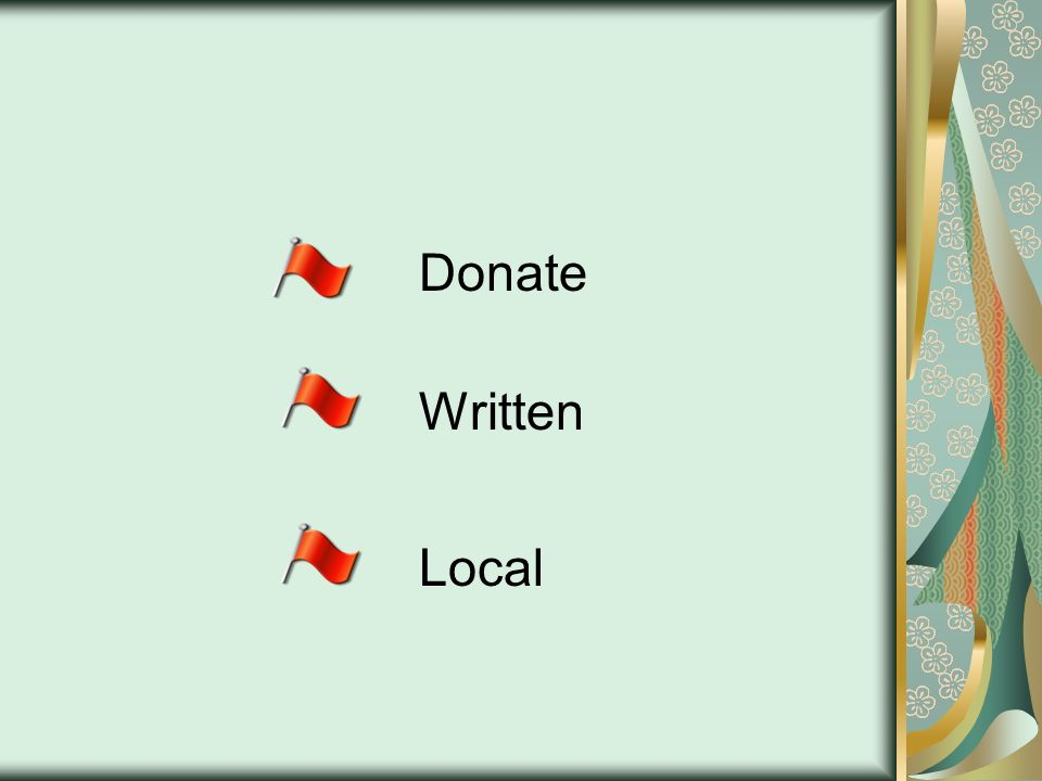 Donate Written Local