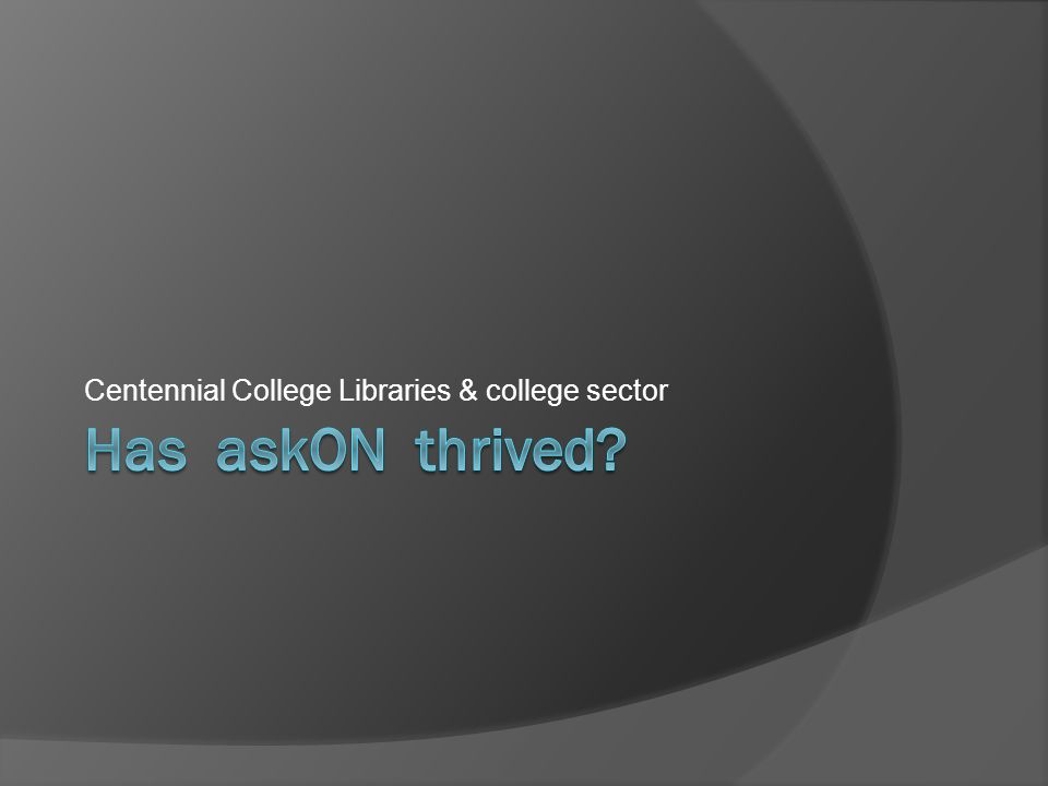 Centennial College Libraries & college sector