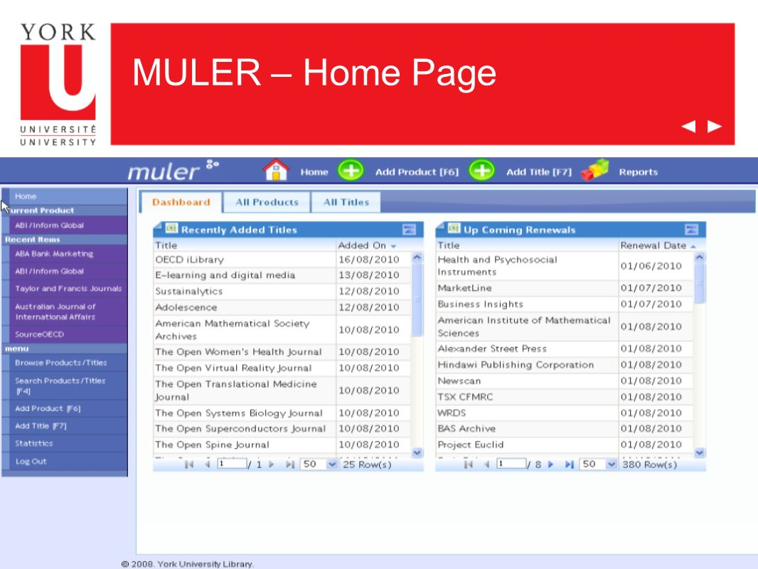 MULER – Home Page