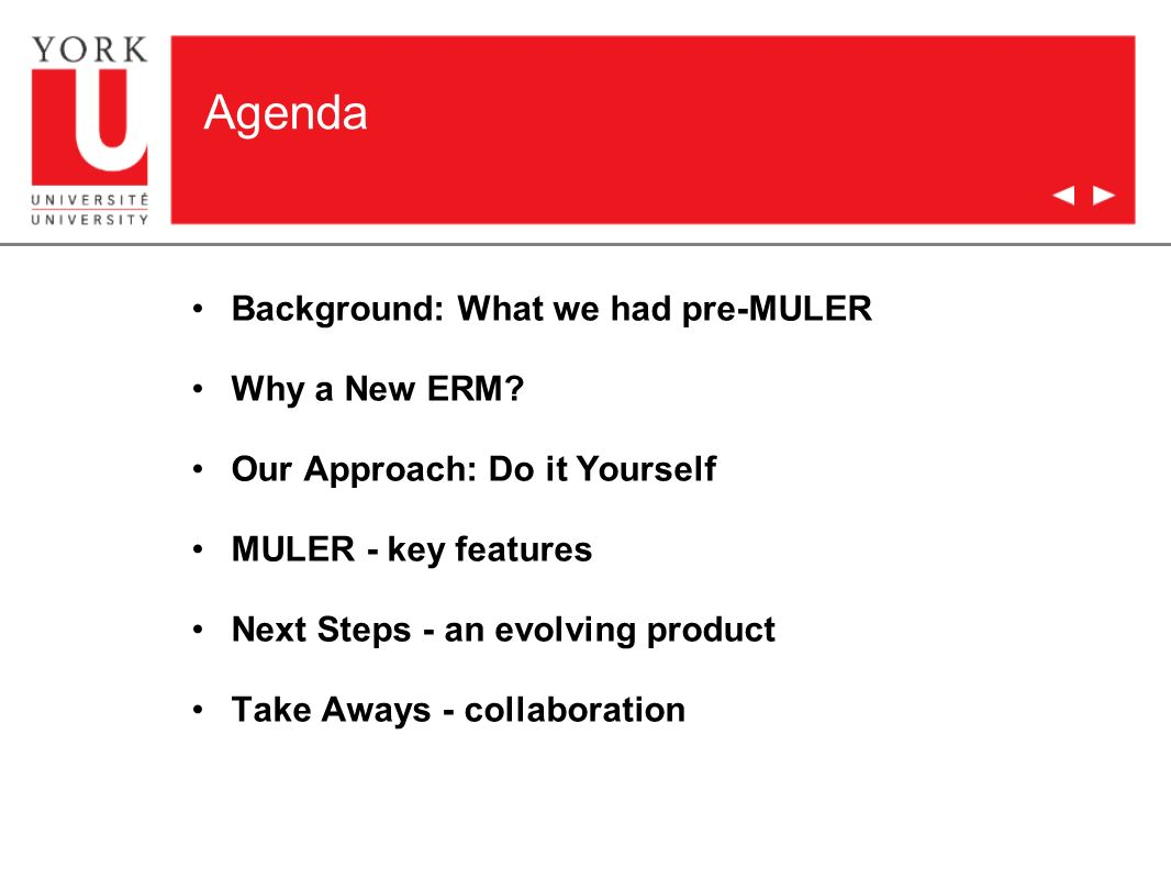 Agenda Background: What we had pre-MULER Why a New ERM.